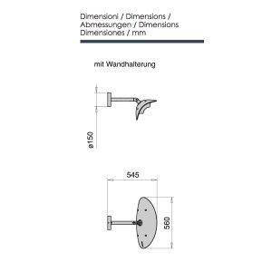 phormalab hotdoor Design Heizstrahler Wandhalterung Kopf...