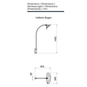 phormalab hotdoor Design Heizstrahler lange Wandhalterung Ständer schwarz / Reflektor weiss