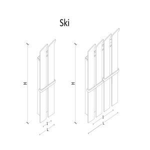 K8 RADIATORI Designheizung Ski verspiegelt