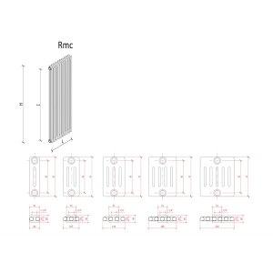 K8 Radiatori Rippenheizkörper andere Grössen und andere Farben