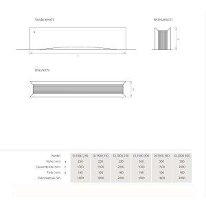 Boden Design-Heizung DLigne weiss, 1000 230, Zentralheizung