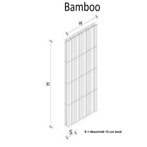 K8 RADIATORI BAMBOO Evolution freistehender Designheizkörper andere Grössen oder Farben