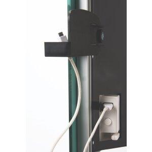 Glas Infrarotheizung Deva mit Turbo-Funktion von Radialight schwarz