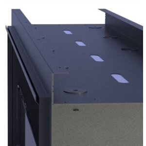Durchsicht Einbau Ethanolkamin BKBF-B-1300 Standardbrenner mit Magnetrahmen
