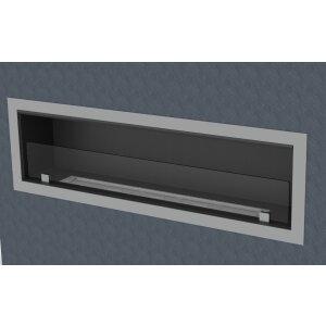 Einbau Ethanolkamin einseitig offen BKBF-M-1300 Standardbrenner mit Magnetrahmen