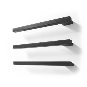 Elektrischer Handtuchwärmer M Slim Square weiss, schwarz texturiert
