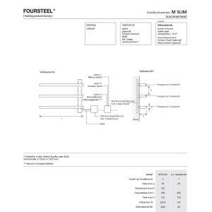 Elektrischer Design Handtuchwärmer M Slim andere Farben, zusätzliche Heizelemente