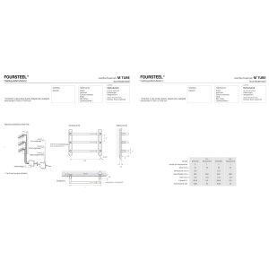 Design Handtuchwärmer elektrisch M Tube 550 poliert
