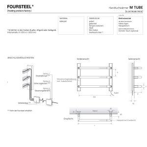 Design Handtuchwärmer elektrisch M Tube 800 poliert