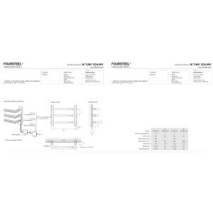 Designer Handtuchwärmer elektrisch M Tube Square 550 gebürstet