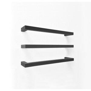 Designer Handtuchwärmer elektrisch M Tube Square 800 weiss, schwarz texturiert