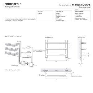 Designer Handtuchwärmer elektrisch M Tube Square 800 gebürstet