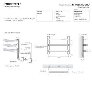 Elektrischer Design Handtuchwärmer M Tube Round