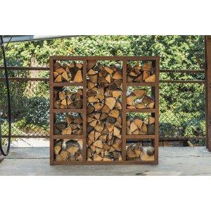 Holzregal und Sichtschutz Quadra von Kessler Lifestyle