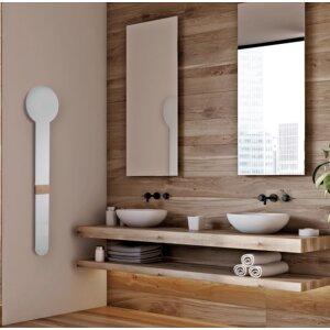 Elektrischer Heizkörper für Handtuch und Bademantel ohne Stecker weiss ohne Sensor
