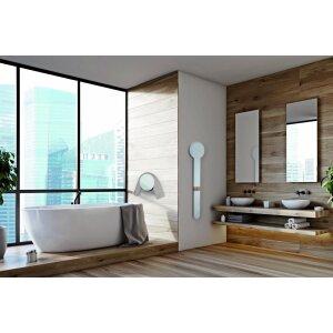 Elektrischer Heizkörper für Handtuch und Bademantel ohne Stecker weiss mit Sensor