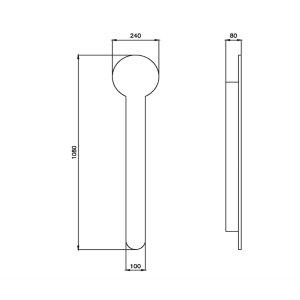 Elektrischer Heizkörper für Handtuch und Bademantel mit Stecker schwarz ohne Sensor