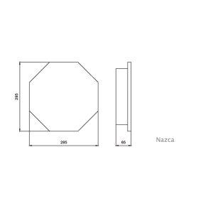 Elektrischer Handtuchheizkörper Cusco / Nazca mit Stecker achteckig weiss