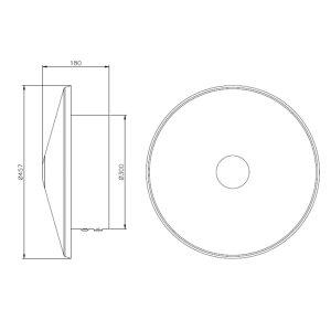 Elektrische Badheizung Shield mit Stecker 100 Watt schwarz