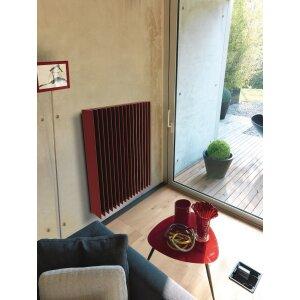 Rippenheizung Prisma-V mit modernen Rippen rotbraun, Maße 1200x680, 3383 Watt