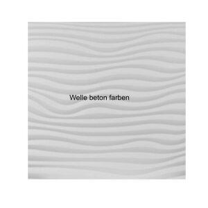 Design Infrarotspeicher Panel Pur Welle 116x41, 800 Watt Pur Beton
