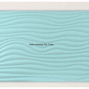 Design Infrarotspeicher Panel Pur Welle 146x56, 1500 Watt PUR RAL Farbe