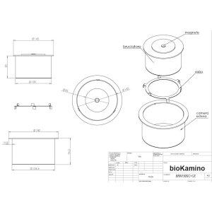 Runder Ethanol Brenner von bioKamino