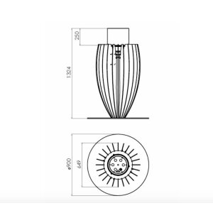 Design Ethanol Feuersäule Tuli gerosteter Corten