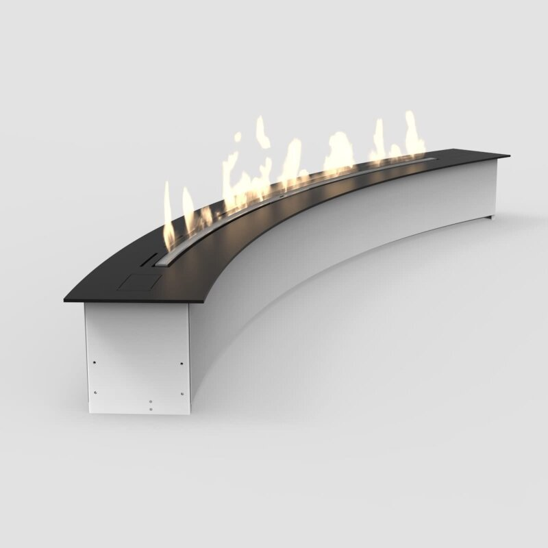 Automatischer Ethanol Brenner e-ribbon-fire in Sonderformen Curved